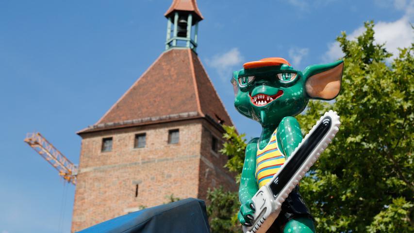 Nürnberg , am 27.07.2020..Ressort: Lokales Foto: Michael Matejka..Hauptmarkt und Jakobsplatz, PK Nürnberger Sommertage..PK Nürnberger Sommertage..Serie:1 Bild von 19