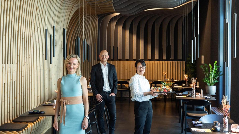 Sophie Bermüller und Matthias Niemeyer sind für die architektonische Gestaltung verantwortlich. Yongqiao Wu führt das neue Restaurant