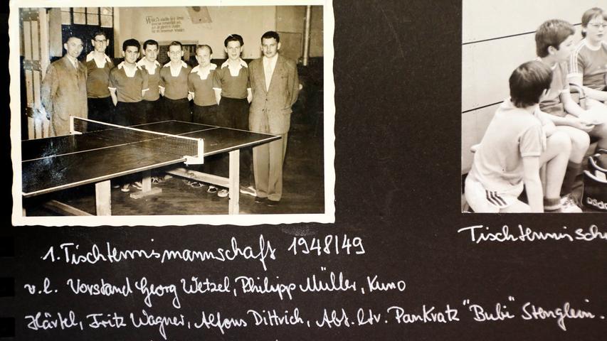 Tischtennis kam in den Nachkriegsjahren dazu - noch heute
