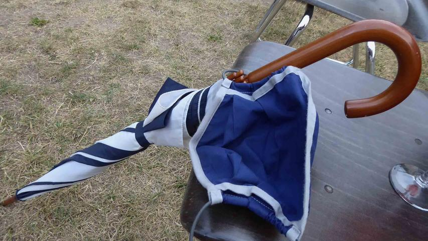 Schirm und Maske sollten der Sicherheit dienen…