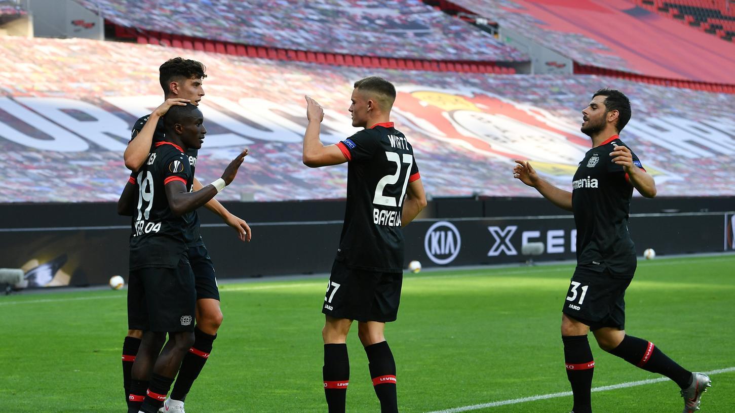 Bayer 04 Leverskusen gewinnt das Achtelfinal-Rückspiel gegen die Glasgow Rangers souverän mit 1:0.
