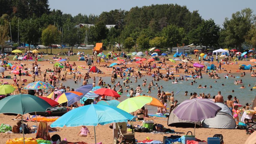 Fränkisches Seenland am Wochenende: Eine Bilanz in Bildern