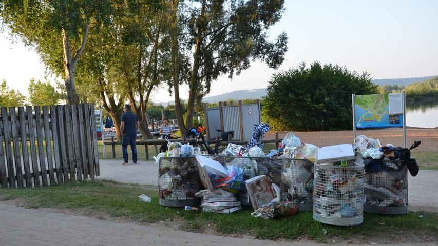 Badegäste hinterlassen im Seenland jede Menge Müll