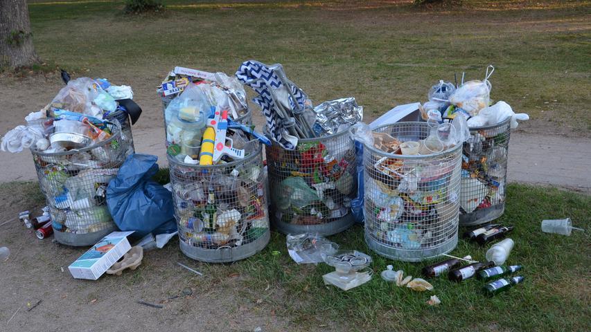 Müll Müllsammler am Brombachsee, Ramsberg Foto: Jürgen Eisenbrand 10. 8. 2020