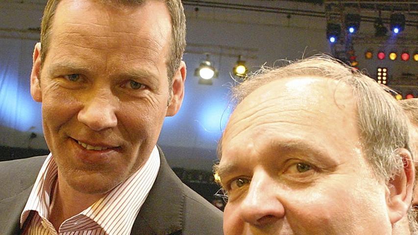 Zwei Legenden des deutschen Berufsboxsports: Dr. Walter Wagner als Ringarzt und Henry Maske, der ehemalige Weltmeister. Beide sind bis heute eng befreundet.
