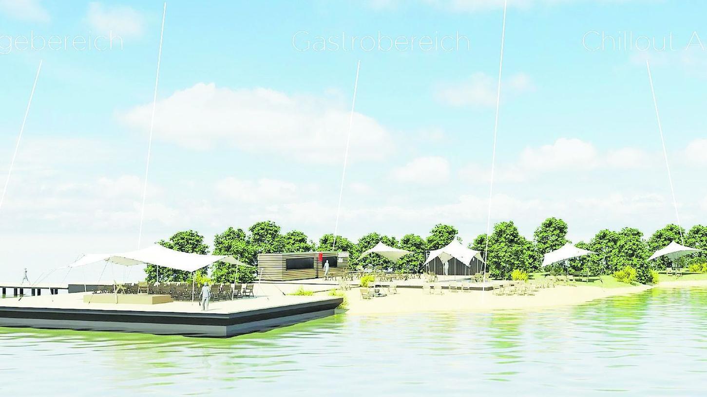 Im Gemeinderat umstritten, aber letztlich doch abgesegnet: die Event-Insel im Altmühlsee, für deren Umsetzung diverse politische Hürden genommen werden müssen.