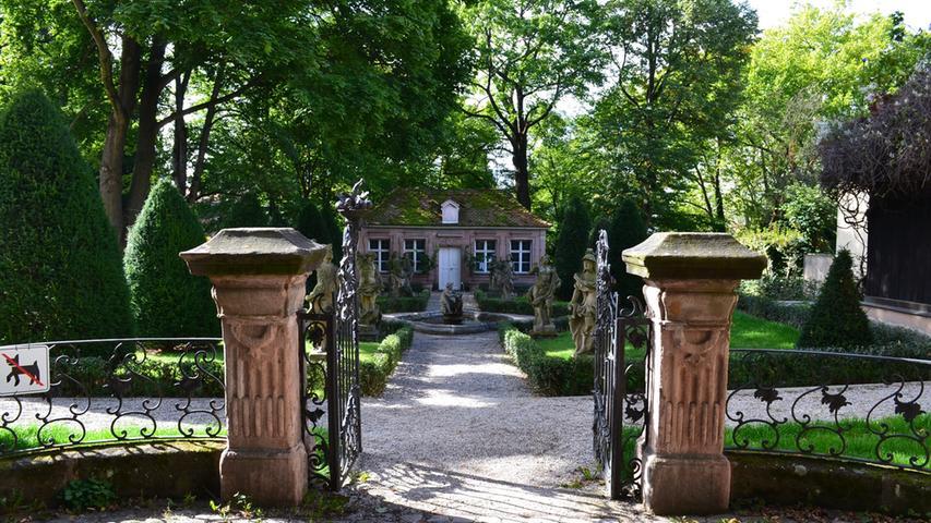 Der romantische Hesperidengarten in Sankt Johannis wirkt wie im Märchen.