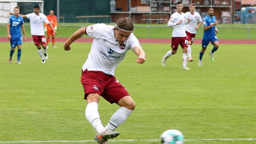22.08.2020 --- Fussball --- Saison 2020 2021 --- Testspiel / Freundschaftsspie / Vorbereitungsspiel: TSG 1899 Hoffenheim - 1. FC Nürnberg ( Club ) --- Foto: 1. FC Nuernberg/Daniel Marr/  ---   Felix Lohkemper (7, 1. FC Nürnberg / FCN )