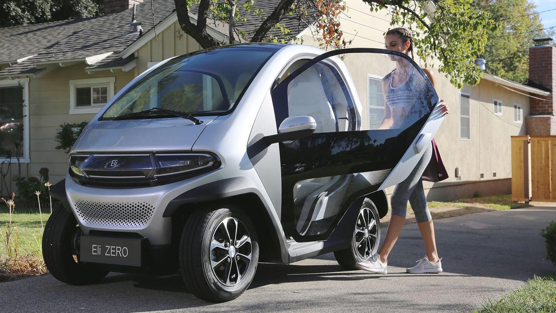 Noch kürzer als der Smart: Der elektrische Autozwerg Eli Zero.