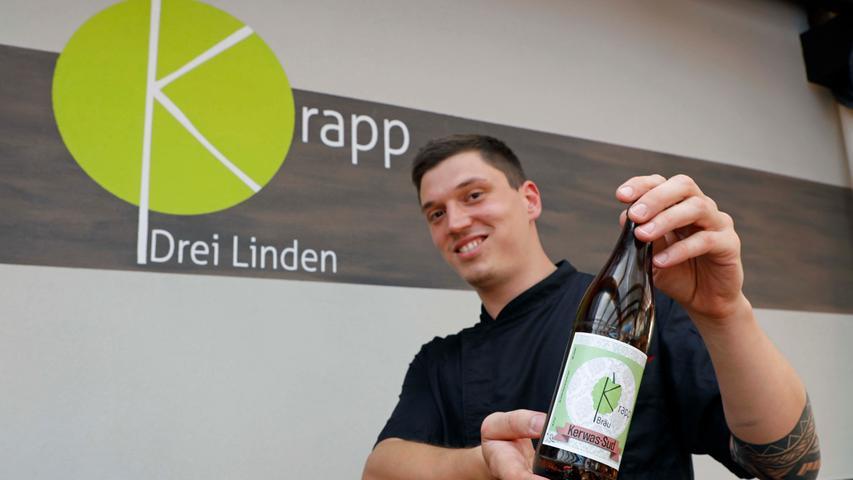 """Seit 2019 stellt der 26-jährige Marco Krapp aus der Gaststätte """"Drei Linden"""" in Alterlangen seinen eigenes Bier her."""