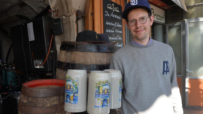 Die Brauerei von Vincenz Schiller am Entlas Keller steht kurz vor deren Gründung. Bislang wird noch in Memmelsdorf bei Bamberg gebraut.