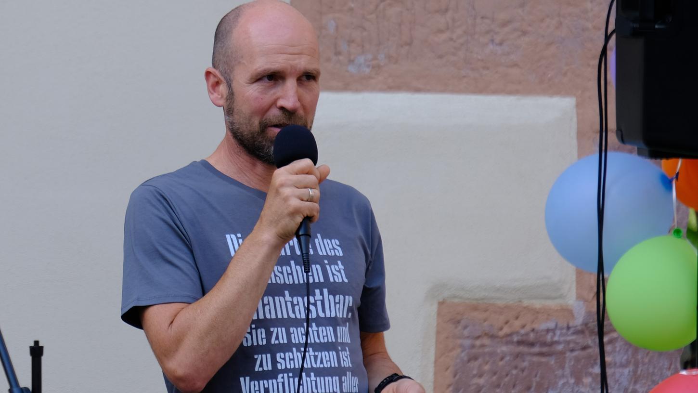 Wurde wegen der Auftritte bei Corona-Demos suspendiert: Bernd Bayerlein.