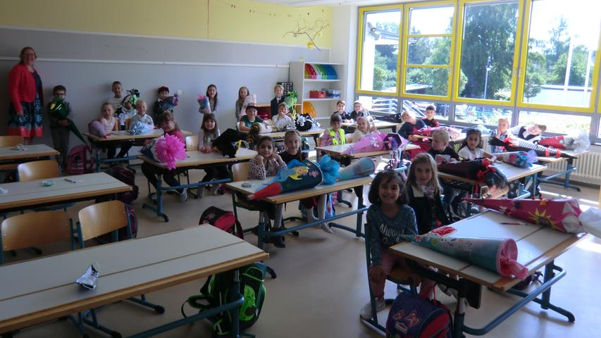 Mit der Klasse 1d sind es insgesamt 105 ABC-Schützen, die in diesem Schuljahr an die Grundschule Pegnitz kommen.