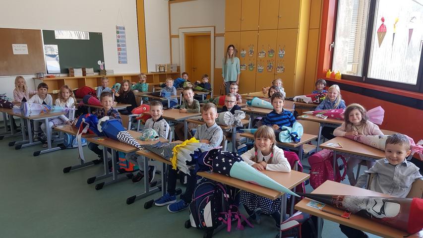 Eine respektable Größe hat auch die Klasse 1c der Grundschule Creußen.