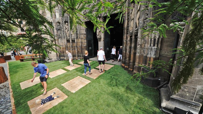 Mehr Natur in der Stadt: Verein verwandelt Lorenzkirche in eine grüne Oase
