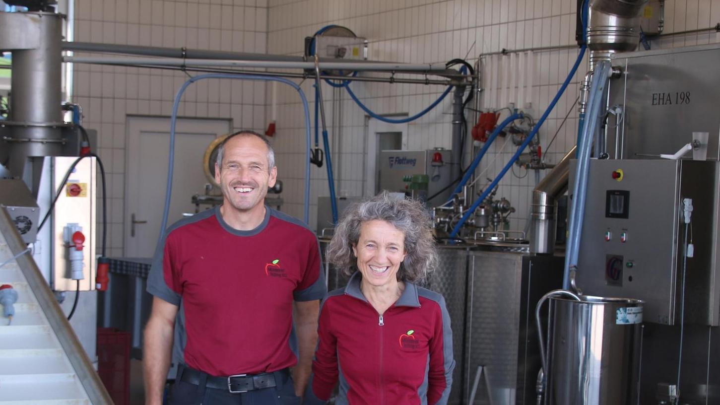 Angi und Eddi Billing: Gemeinsam haben sie über rund eineinhalb Jahrzehnte ihre Mosterei kontinuierlich ausgebaut.