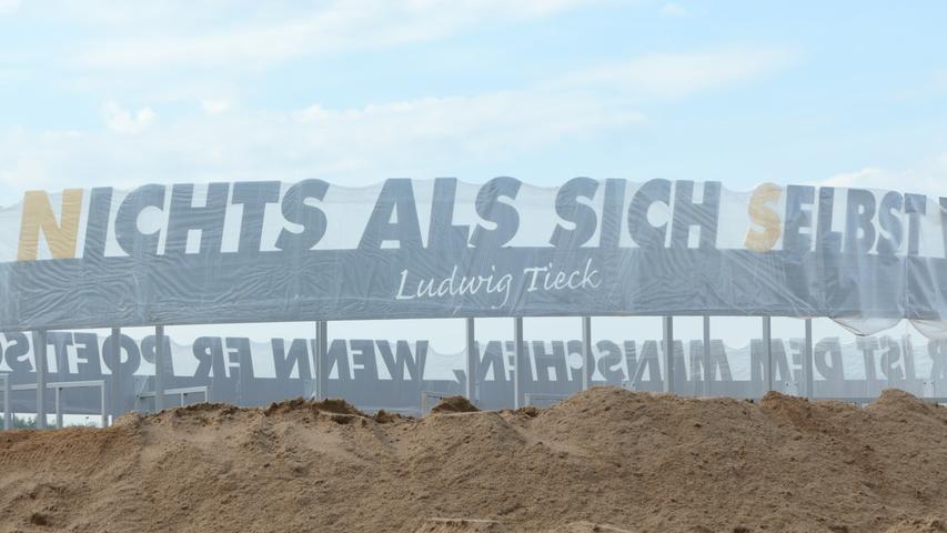 Kunst am Kreisverkehr in Kersbach fast fertig