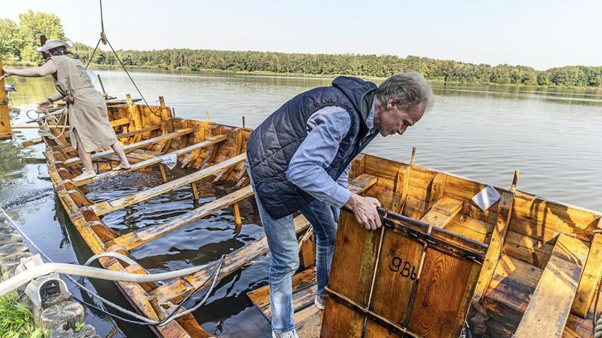 Altmühlsee: Bau des neuen Römerboots beginnt