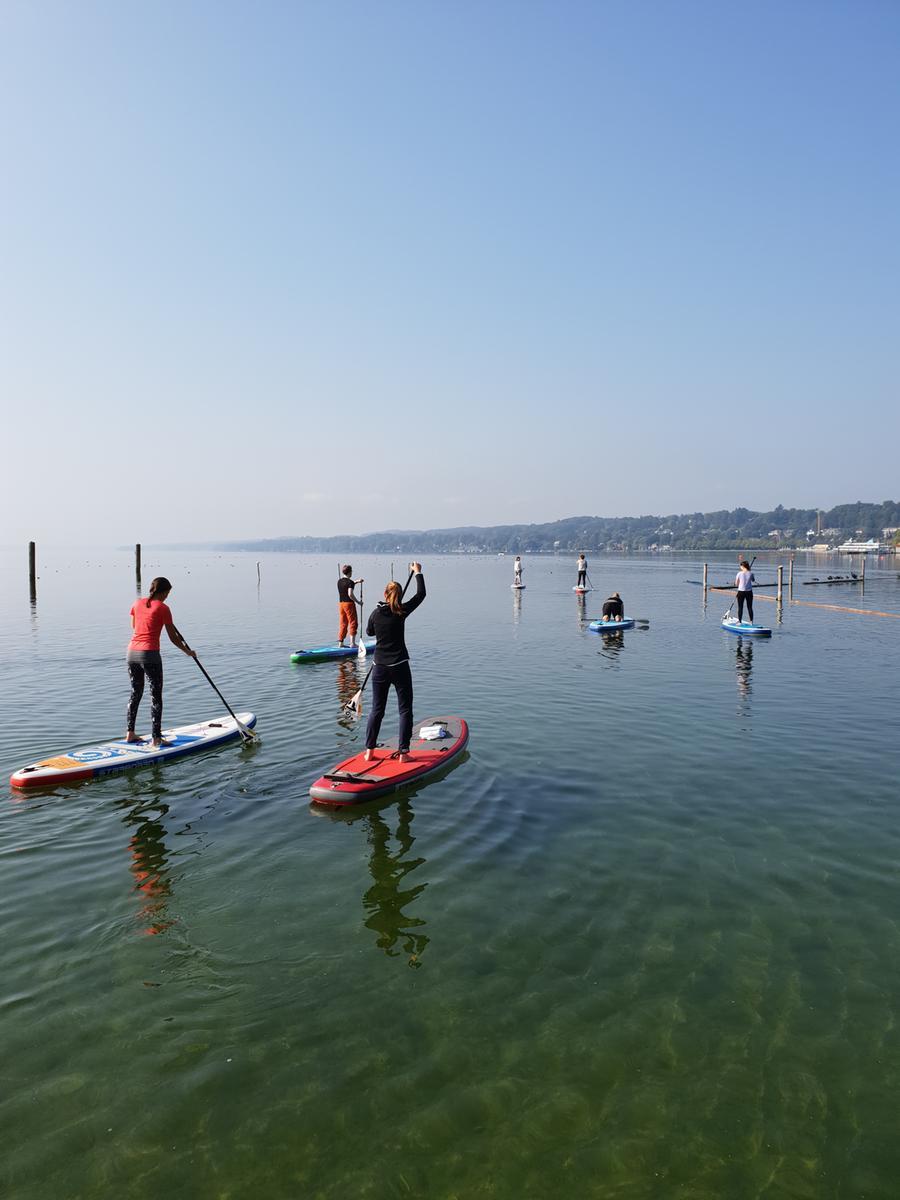 SUP-Paddeln auf dem Starnberger See.