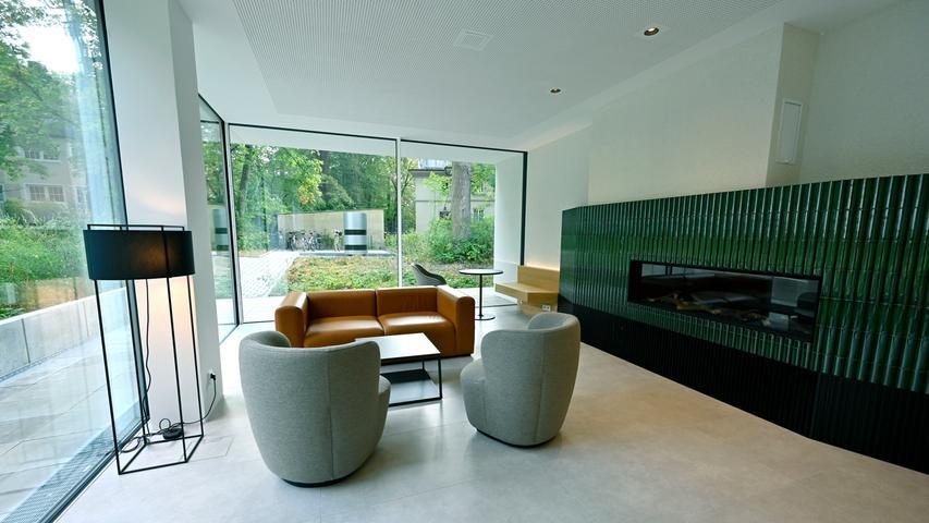 Das Gästehaus kann auch für kleinere Vortragsveranstaltungen und Kamingespräche genutzt werden.