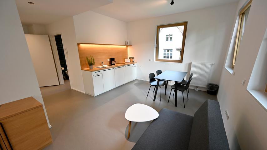 Eines von insgesamt zwölf Mini-Appartements, die zwischen 15 und 35 Quadratmetern groß sind.