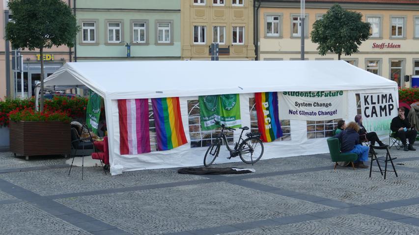 So sieht das Klimacamp von FFF in Bamberg aus