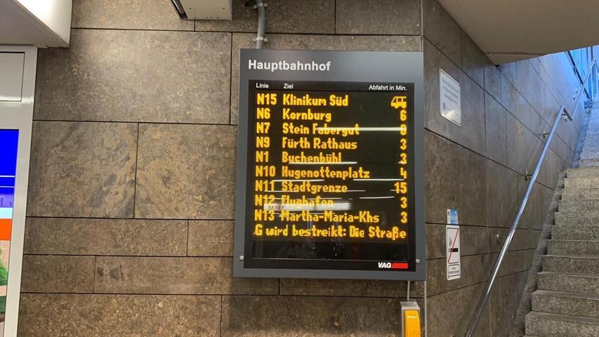 Gestreikt wurde in elf Städten in Bayern, sieben davon in Franken: Nürnberg, Fürth, Coburg, Bamberg, Aschaffenburg, Würzburg und Schweinfurt, zudem in der Landeshauptstadt München, Augsburg, Regensburg und Landshut.