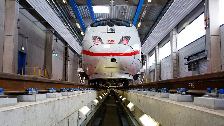Die Deutsche Bahn plant einICE-Ausbesserungswerk - im Gespräch ist dabei auch ein Gebiet im Nürnberger Reichswald.