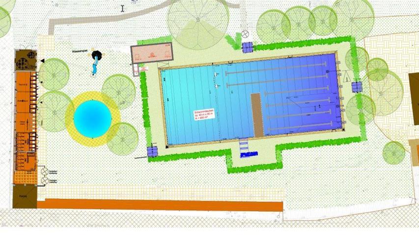 Das Freibad in Streitberg soll saniert werden. Der Gemeinderat stimmte den Plänen zu.