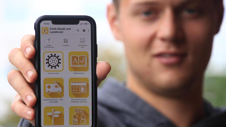 """""""Integreat"""" heißt die App, die Stadt und Landkreis gemeinsam erstellt haben. Sie soll Migranten helfen, sich zurechtzufinden."""