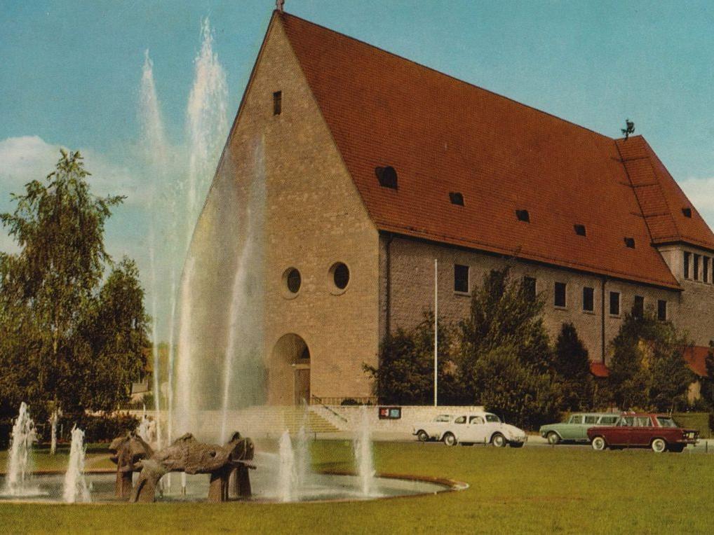 Eine Postkarte der St. Kunigund Kirche aus dem Jahre 1965.