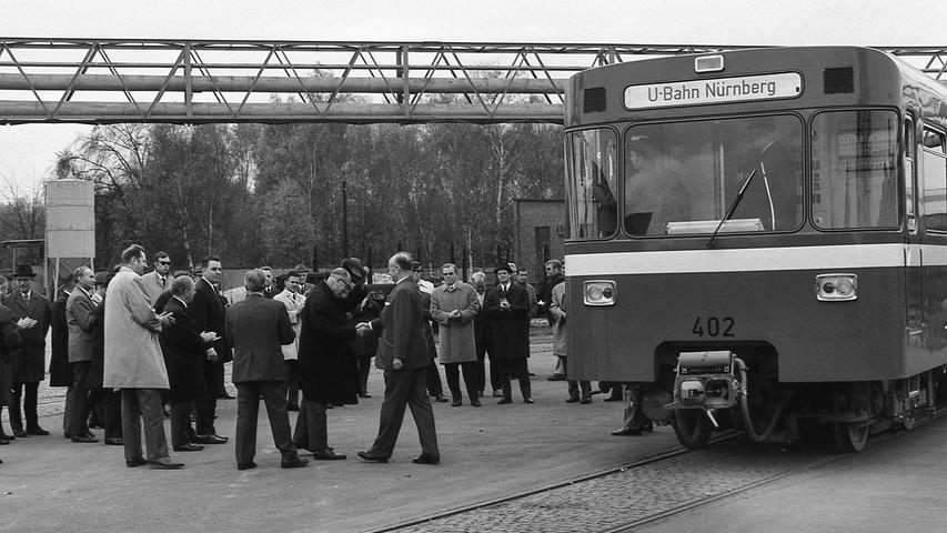 Vor 50 Jahren: Als die erste U-Bahn nach Langwasser kroch