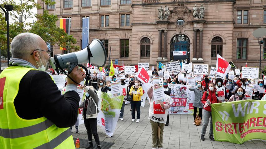 Klinik-Streik in Nürnberg: Für höhere Löhne, gegen Profitgier
