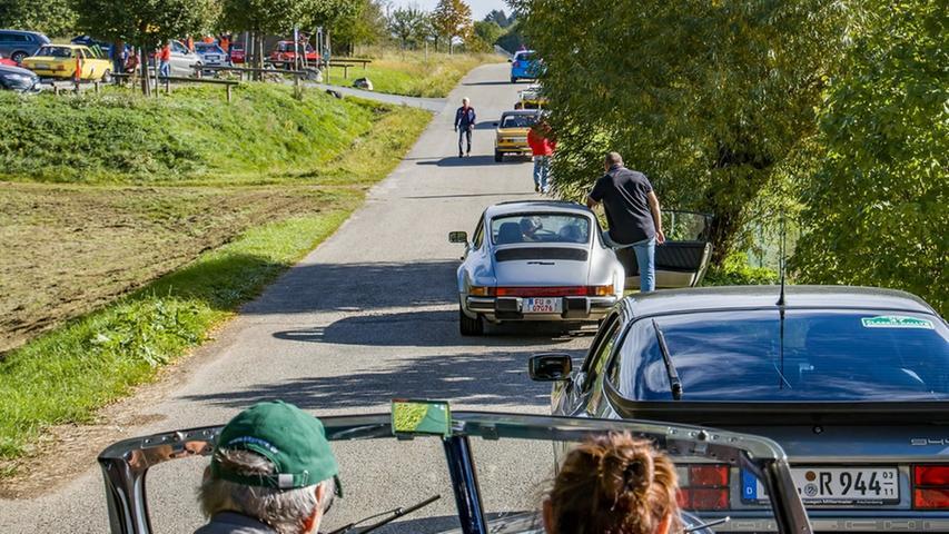 Nach dem Start in Neunkirchen waren die Oldtimer auf verschiedenen Etappen und Prüfungen in Stöckach, Igensdorf, Kasberg, Pretzfeld, Forchheim, Heroldsbach, Hetzles, Großenbuch und Kleinsendelbach zu sehen.