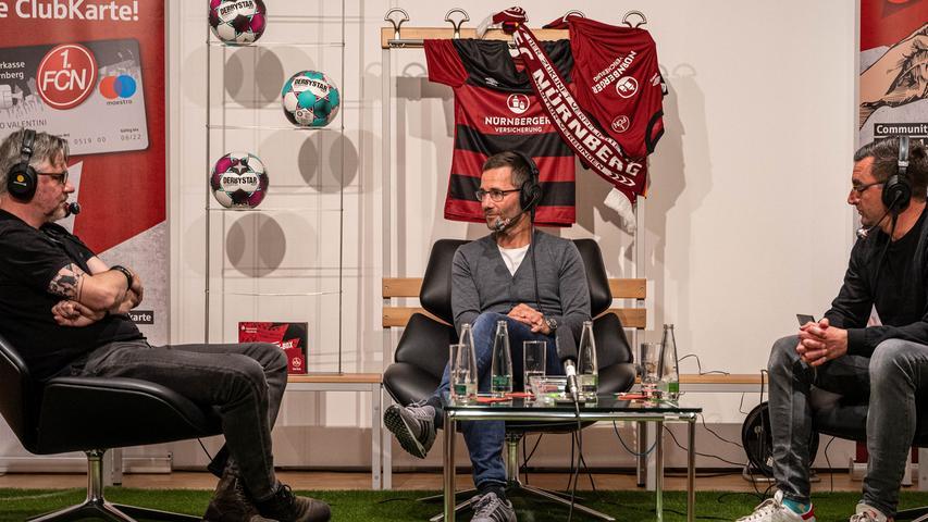 Am Montagabend sprachen die Sportredakteure Uli Digmayer (links) und Fadi Keblawi (rechts)im Live-Podcast mit Michael Wiesinger.