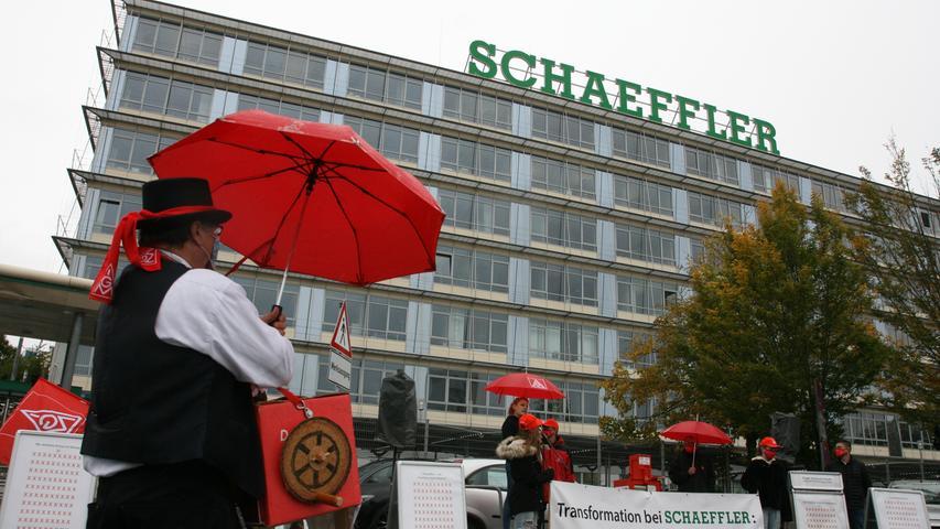 Schaeffler-Mitarbeiter kämpfen um Arbeitsplätze in Herzogenaurach