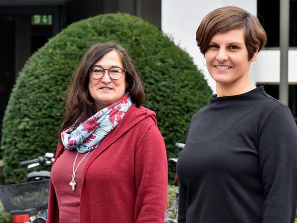 Katharina Pöllmann-Heller (re.) und Claudia Wolter setzen sich für Frauenfragen ein.