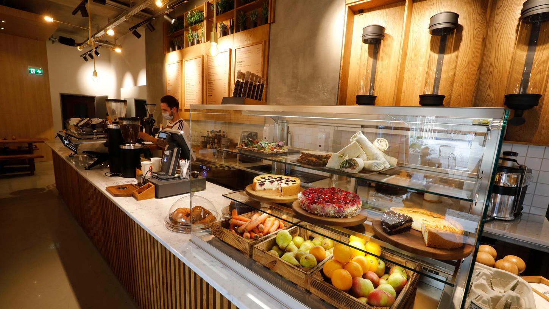Im neuen Espressolab ist das Angebot regional und fair.