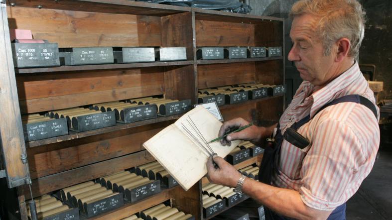 Einmal monatlich ist das Minenmuseum, das zur Firma Faber-Castell gehört, geöffnet.