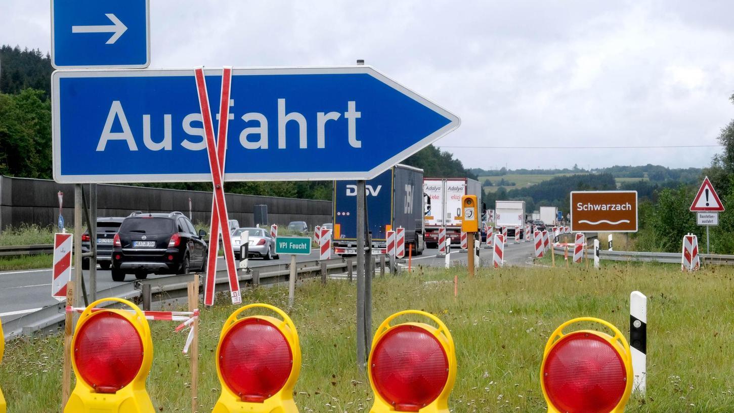 """Sperrung ade: Bald heißt es wieder """"freie Fahrt"""" auf dem Abschnitt der Autobahn A 3 zwischen den Anschlussstellen Oberölsbach und Altdorf."""