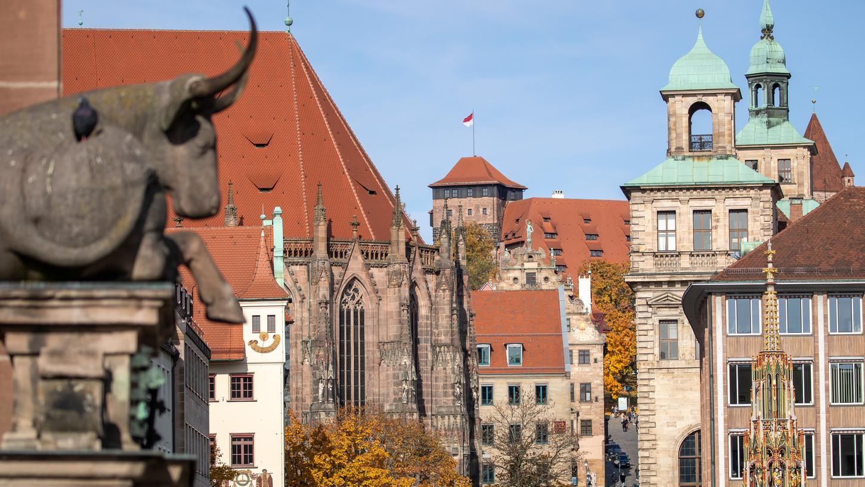 In vielen Teilen der Nürnberger Innenstadt muss keine Maske getragen werden.
