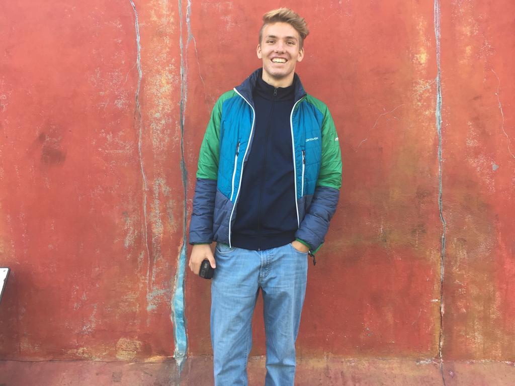 MOTIV: Semesterauftakt, Bastian Öttinger, er ist 19 Jahre alt und studiert ab November im 3. Semester Geographie und Physik auf Lehramt FOTO: Sophie Achenbach
