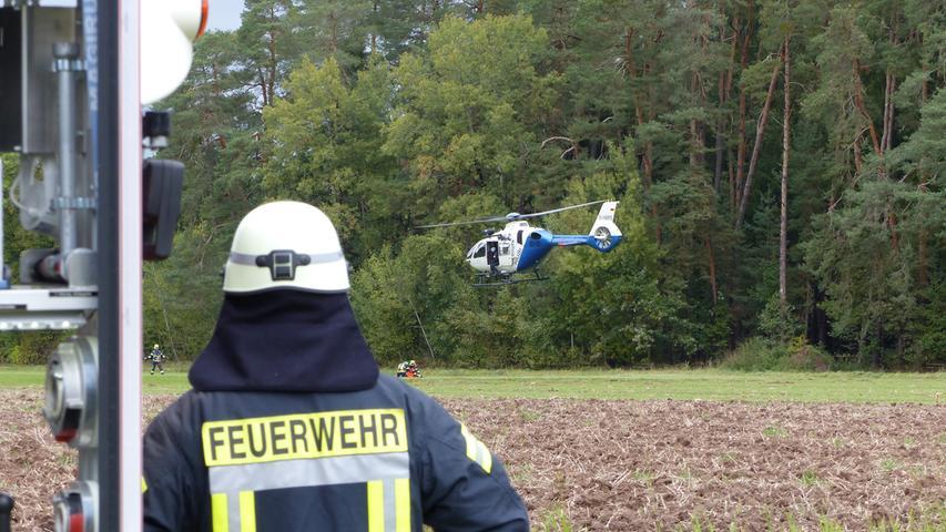 FOTO: Andreas Seegmüller; 30.10.2020; AB MOTIV: Symbolbilder Freiwillige Feuerwehr Gunzenhausen Übung Hubschrauber