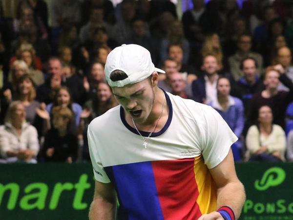 Maximilian Marter kommt aus Stein. Seit fünf Jahren ist er als Tennisprofi auf der ATP-Tour aktiv. 2017 gewann er das Challenger-Turnier in Eckental (im Bild), anschließend stieß Marterer kurzzeitig in die Top 50 der Weltrangliste vor. Aktuell liegt der 25-Jährige auf Rang 249. Beim Tennisturnier in Eckental steigt er mit einer Wildcard am Montag ein. Am Wochenende finden die Quali-Spiele statt. Zuschauer sind im House of Sports nicht zugelassen.