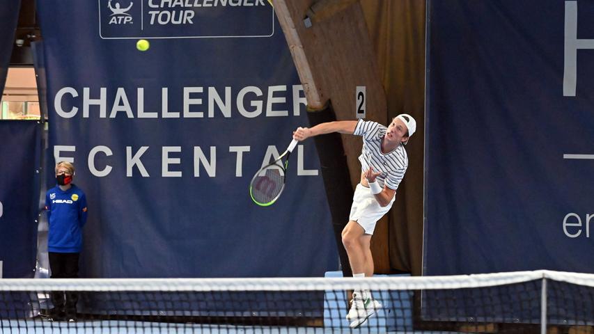 ATP Challenge Tennis in Eckental. Hier Juri Lehecka.Foto: Klaus-Dieter Schreiter.
