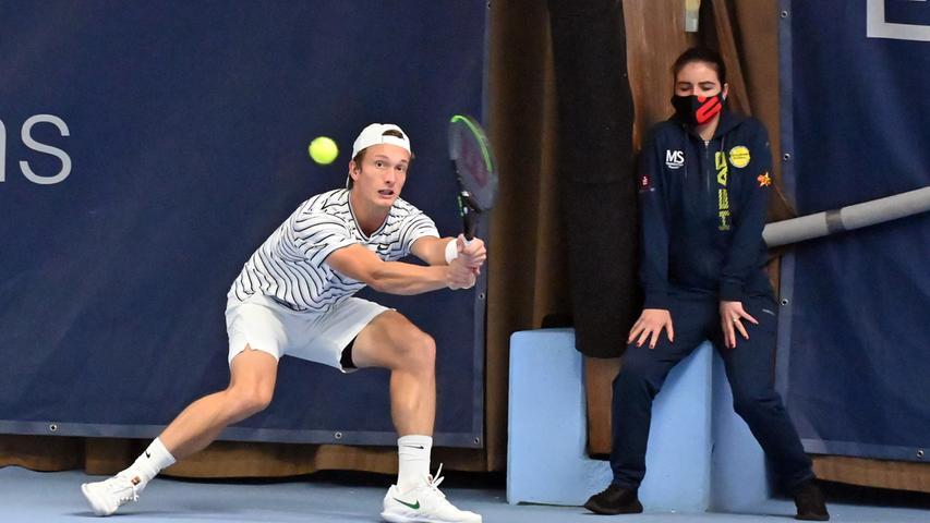 ATP Challenge Tennis in Eckental. Hier Hier Juri Lehecka.Foto: Klaus-Dieter Schreiter.