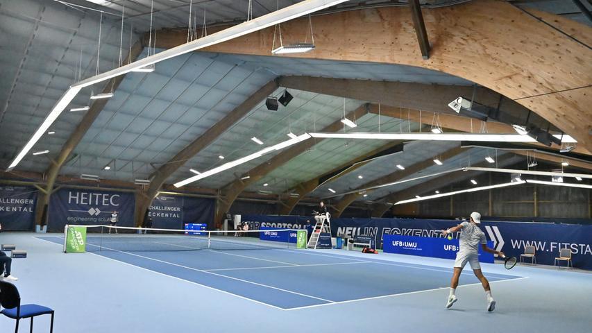 ATP Challenge Tennis in Eckental. Hier Marvin Möller gegen Lehecka..Foto: Klaus-Dieter Schreiter.