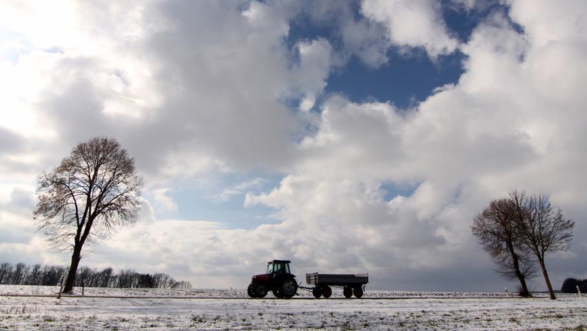 Landwirtschaftlicher Verkehr bei Rothenberg