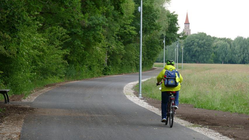 Der Pegnitztalradweg istseit Mitte 2020 auf Höhe des Stadtparks komfortabel ausgebaut.
