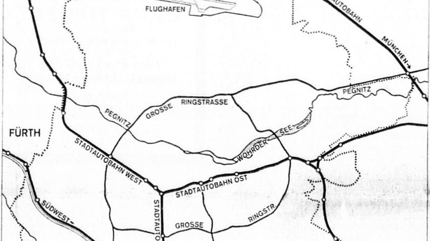 Nürnbergs Tor in die Zukunft ist aufgestoßen. Der Bau des Europa-Kanals und des Hafens ermöglichen einen wirtschaftlichen Aufschwung, wie ihn sich vor wenigen Jahren noch niemand hat vorstellen können. Obwohl im Hafenbereich noch fleißig gebuddelt wird und der Fertigstellungstermin erst für 1972 im Kalender vermerkt ist, zeichnen sich jetzt schon Projekte ab, die die Wirtschaftskraft der Stadt entscheidend stärken werden.Hier geht es zum Artikel vom13. November 1970: Tor in die Zukunft ist aufgestoßen